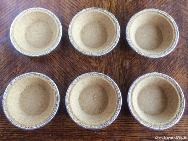 mini Graham cracker pie shells