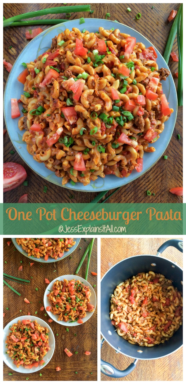 Looking for something ridiculously easy (and ridiculously delicious) to make for dinner tonight? Check out my recipe for one pot cheeseburger pasta! #DinnerOnDemand #ad