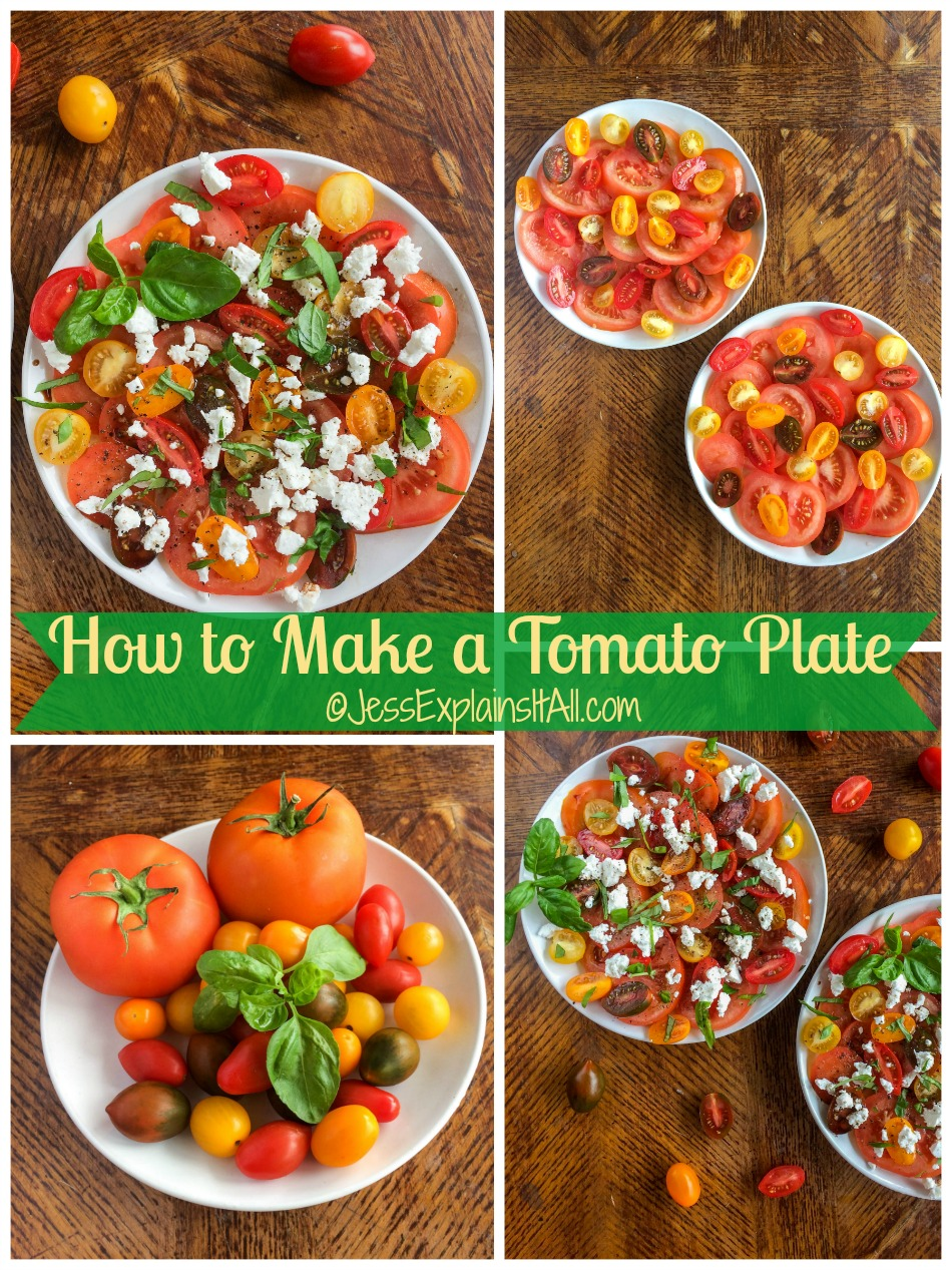 I love summer because all of my favorite foods are in season - specifically tomatoes! Check out my recipe for a simple and delicious tomato plate. www.JessExplainsItAll.com #SamsClubMag #ad @SamsClub @hlmsmag