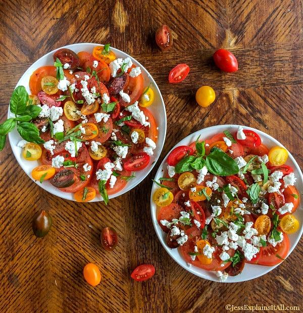 Caprese Salad plates