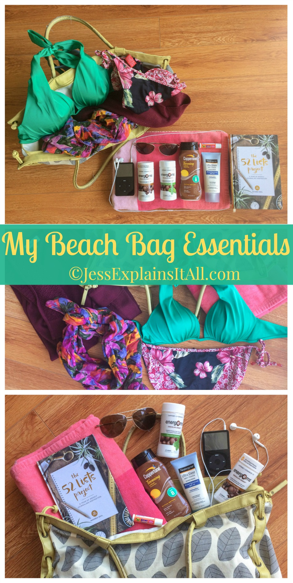 I love taking trips to the beach, but it's always best when you're prepared! Check out my beach bag essentials for a list of what I bring on my beach trips! www.JessExplainsItAll.com #TheBestMe #CollectiveBias #ad