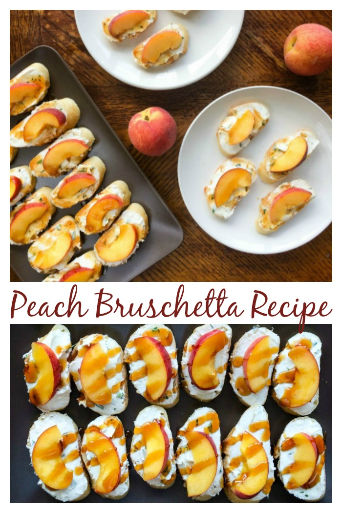Peach Bruschetta - no bake appetizer