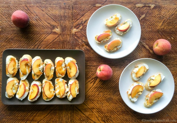 Peach appetizer for summer