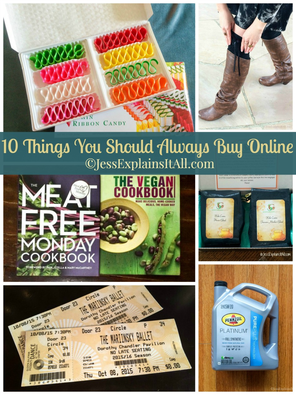 I love going shopping as much as the next person, but sometimes it's better to shop online. Check out my list of 10 things you should always buy online. www.JessExplainsItAll.com #DotComDIY #CollectiveBias #ad