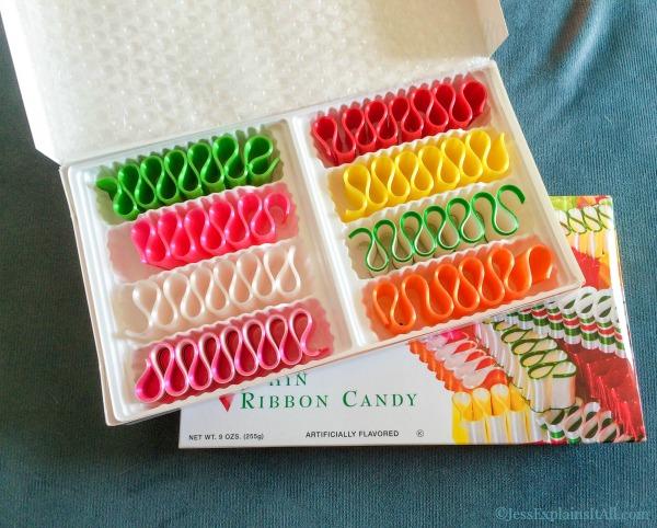 box of ribbon candy