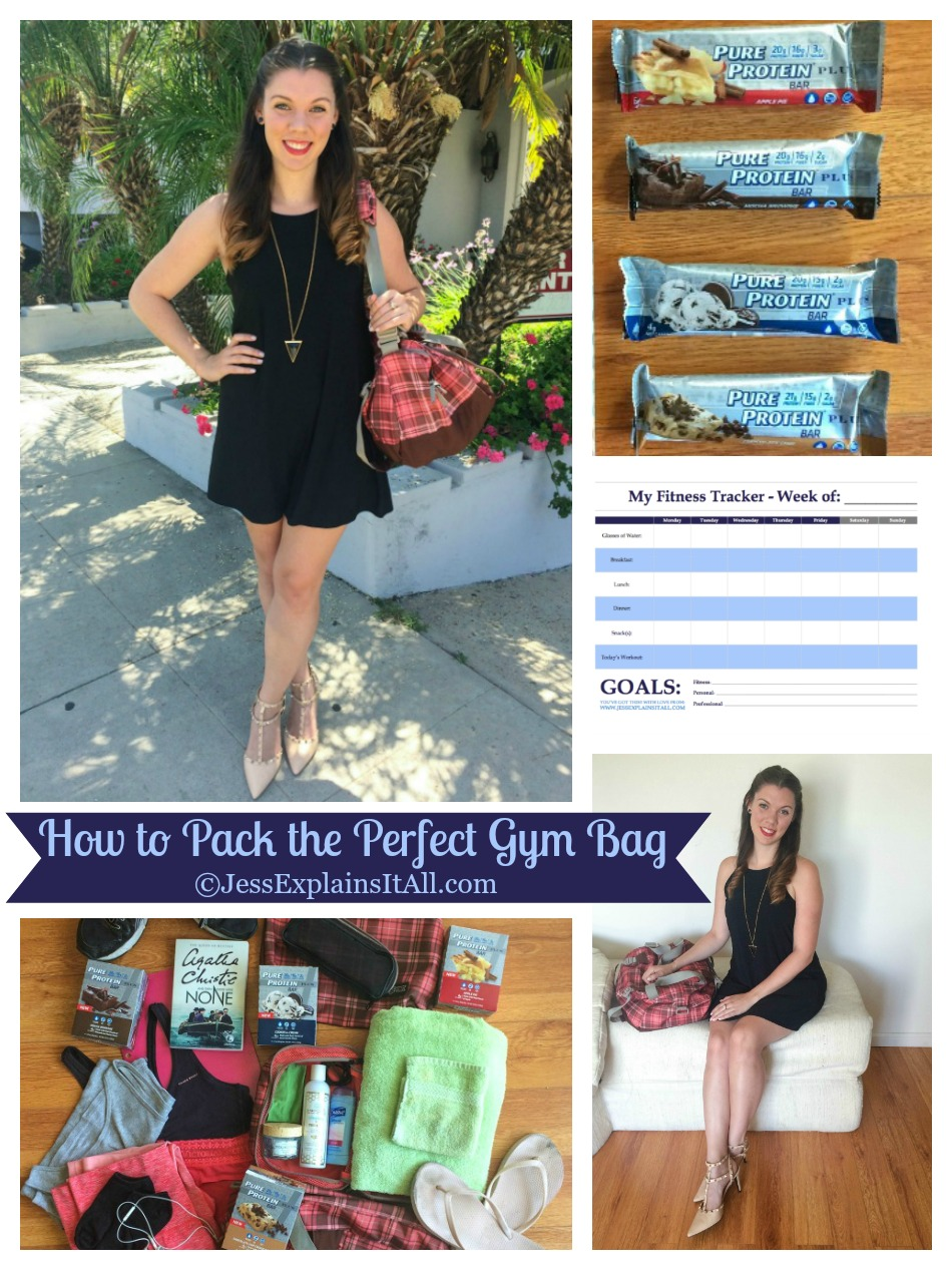 Hate packing? Well, luckily, packing for the gym no longer has to be difficult. Check out my gym bag packing guide and download my free fitness tracker! www.JessExplainsItAll.com #CollectiveBias #KeepOnTrack #ad