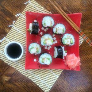 California roll sushi plate
