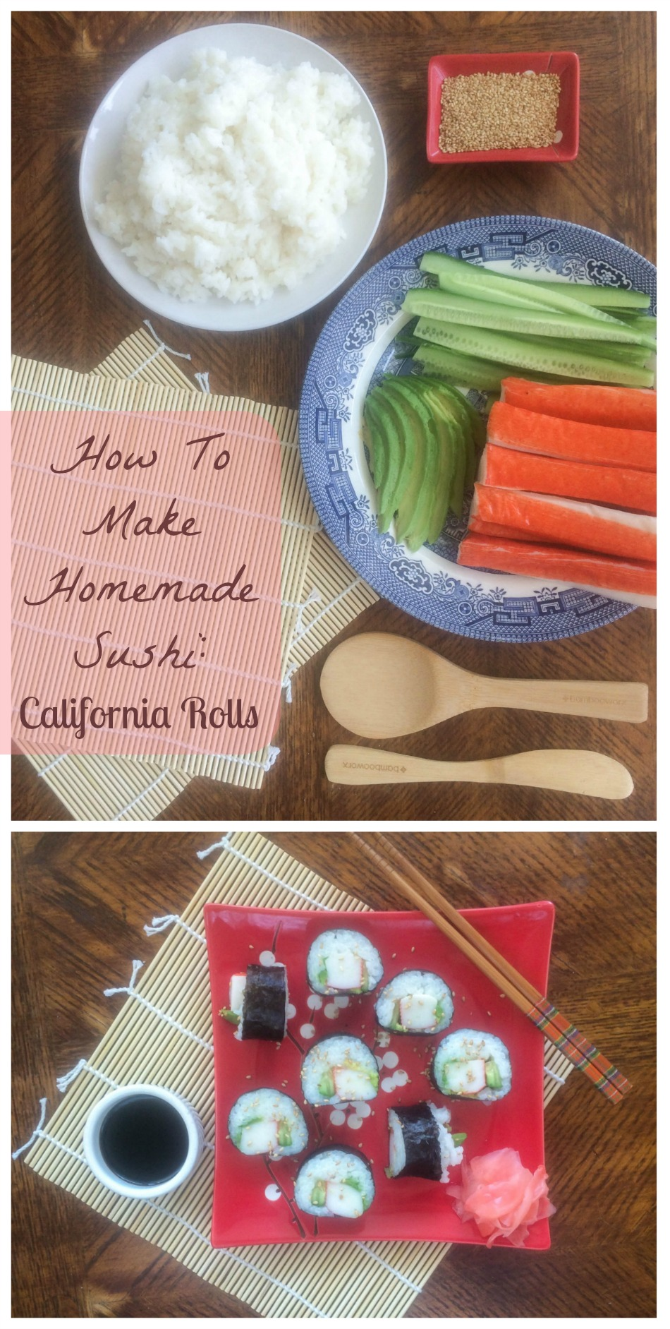 Do you love sushi? Check out my super simple recipe to make yourself a California Roll at home! It's really easy and you will wow any guests you have over! www.JessExplainsItAll.com