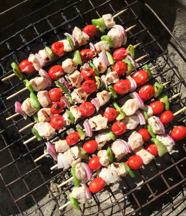 cooked chicken kebabs