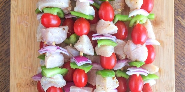 Citrus Pepper Chicken Kebabs