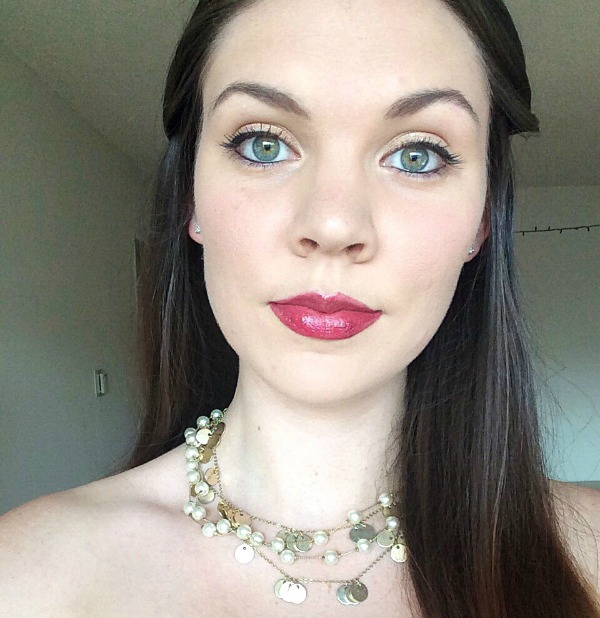 model with make up and jewelry