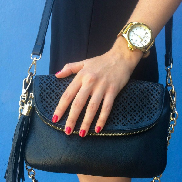 Steve Madden Watch and little black bag