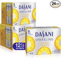 DASANI Sparkling Water Tropical Pineapple Zero Calories, 12 fl oz, 24 Pack