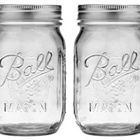Ball Pint Regular Mouth Mason Jar with Lids and Bands, 16-Ounces (2-Units)
