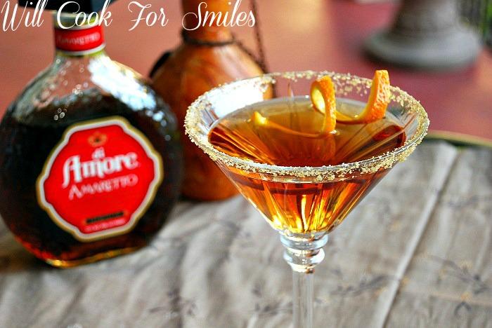 Amaretto Peach Martini