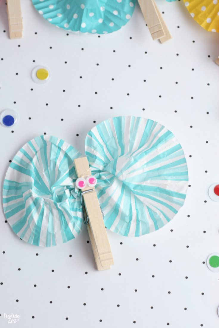 Butterfly Craft For Kids with Clothespins