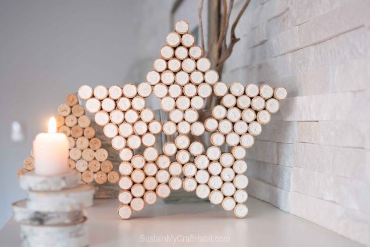 Upcycled wine cork decor