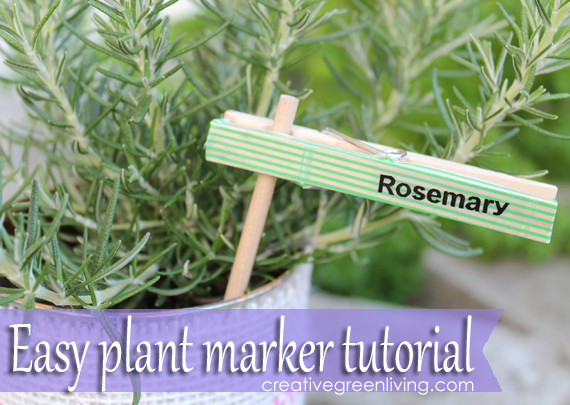 How to Make Plant Markers from Clothespins