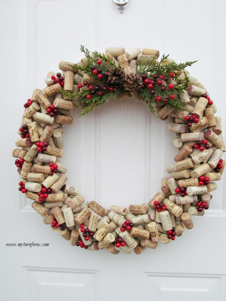 How to make a Christmas Wine Cork Wreath today