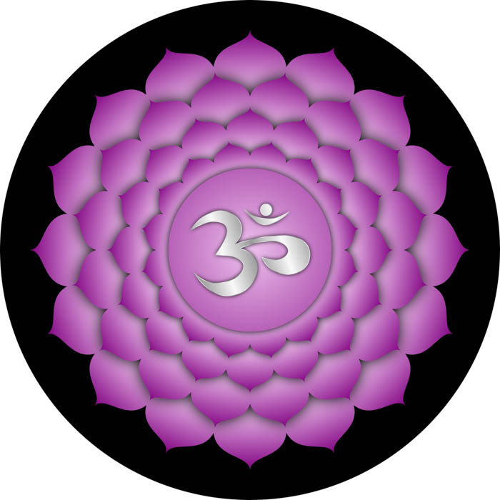 The symbol for the crown chakra known in Sanskrit as Sahasrara.