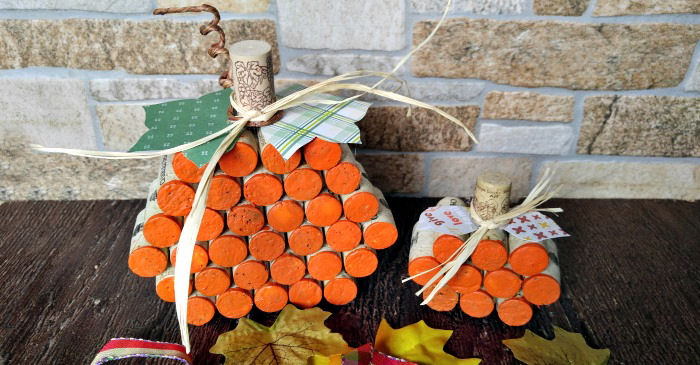 Wine Cork Pumpkin – DIY Pumpkin Made from Wine Corks