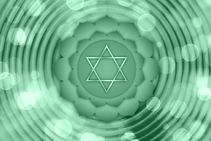 The symbol for the Heart Chakra, also called Anahata.