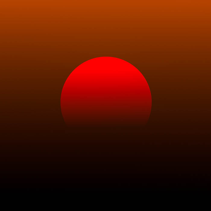 A red sun in the sky, symbolizing the linguistic heliotrope meaning.
